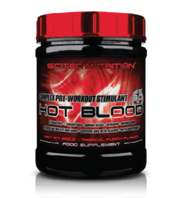 Pre Workout HOT BLOOD 30 TROPICAL PUNCH hot blood 3 0 tropical